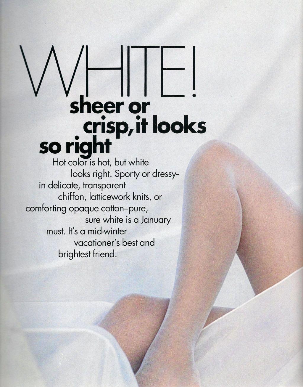 Elle (US) January 1991 | White 01.jpg