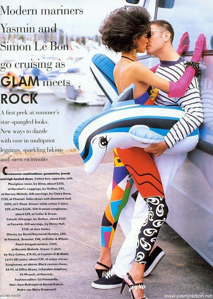 Vogue (UK) January 1991 | Glam Meets Rock 02.jpg