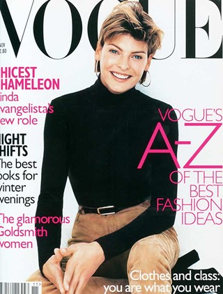 Vogue (UK) November 1996 | Linda Evangelista