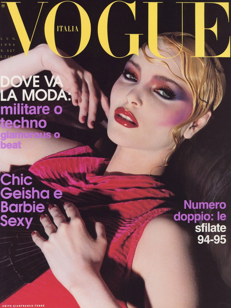 Vogue (Italia) July 1994   Nadja Auermann
