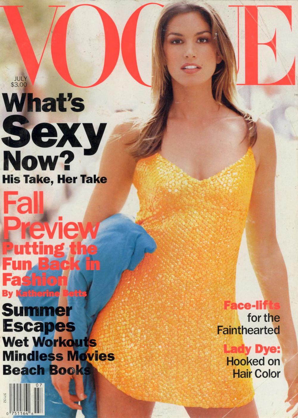 Vogue (US) July 1994   Cindy Crawford