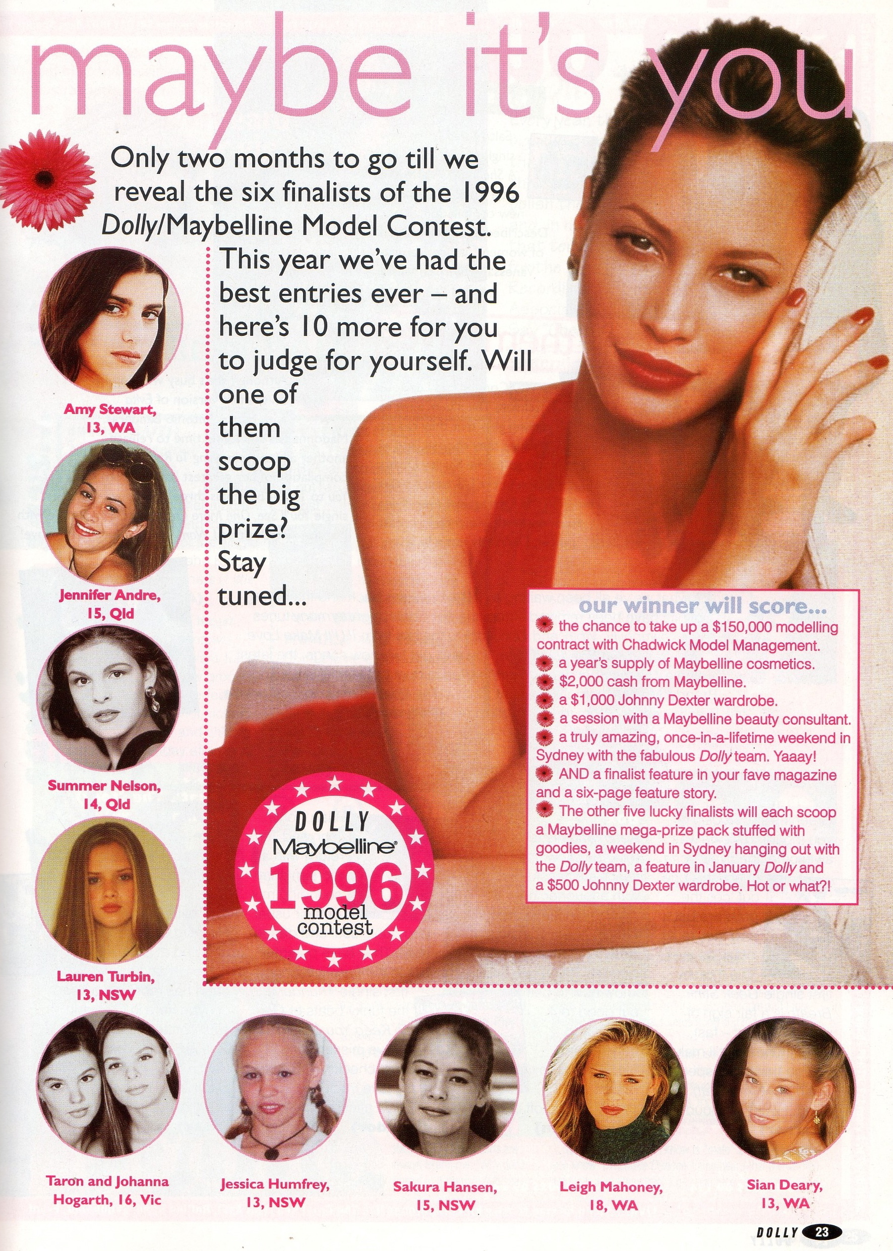 Dolly Magazine Covergirl Entrants |  December 1995.jpg