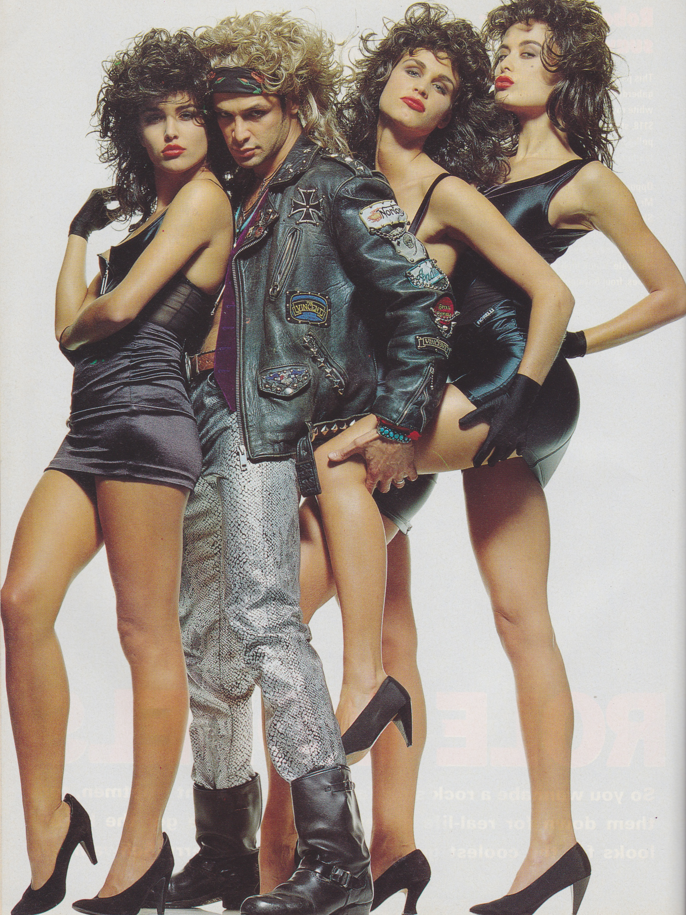 Cosmopolitan September 1991 | Rock n Role Models (Toneya Bird, Francoise Skeates & 2 Unknowns) 03.jpeg