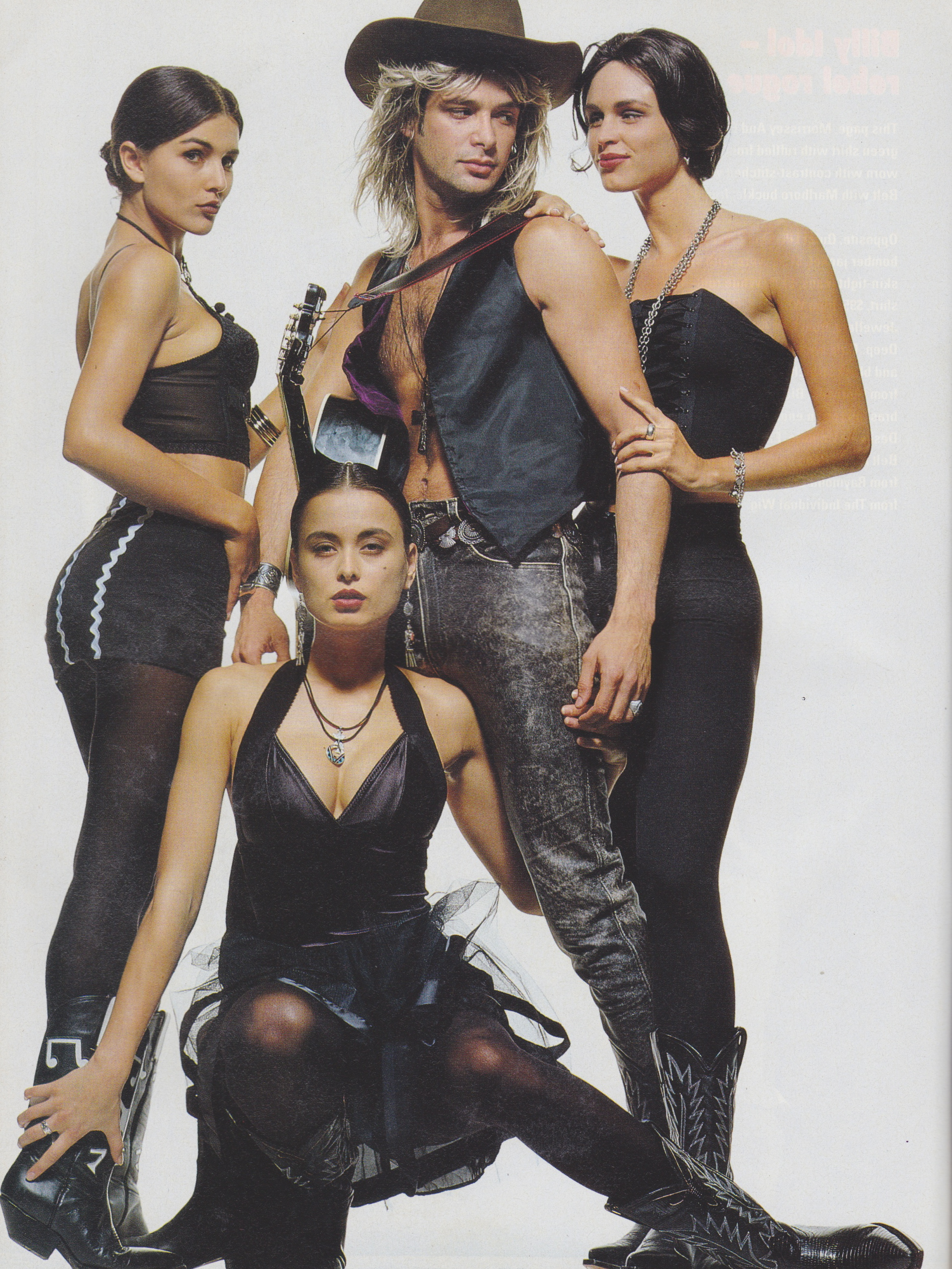 Cosmopolitan September 1991 | Rock n Role Models (Toneya Bird, Francoise Skeates & 2 Unknowns) 09.jpeg