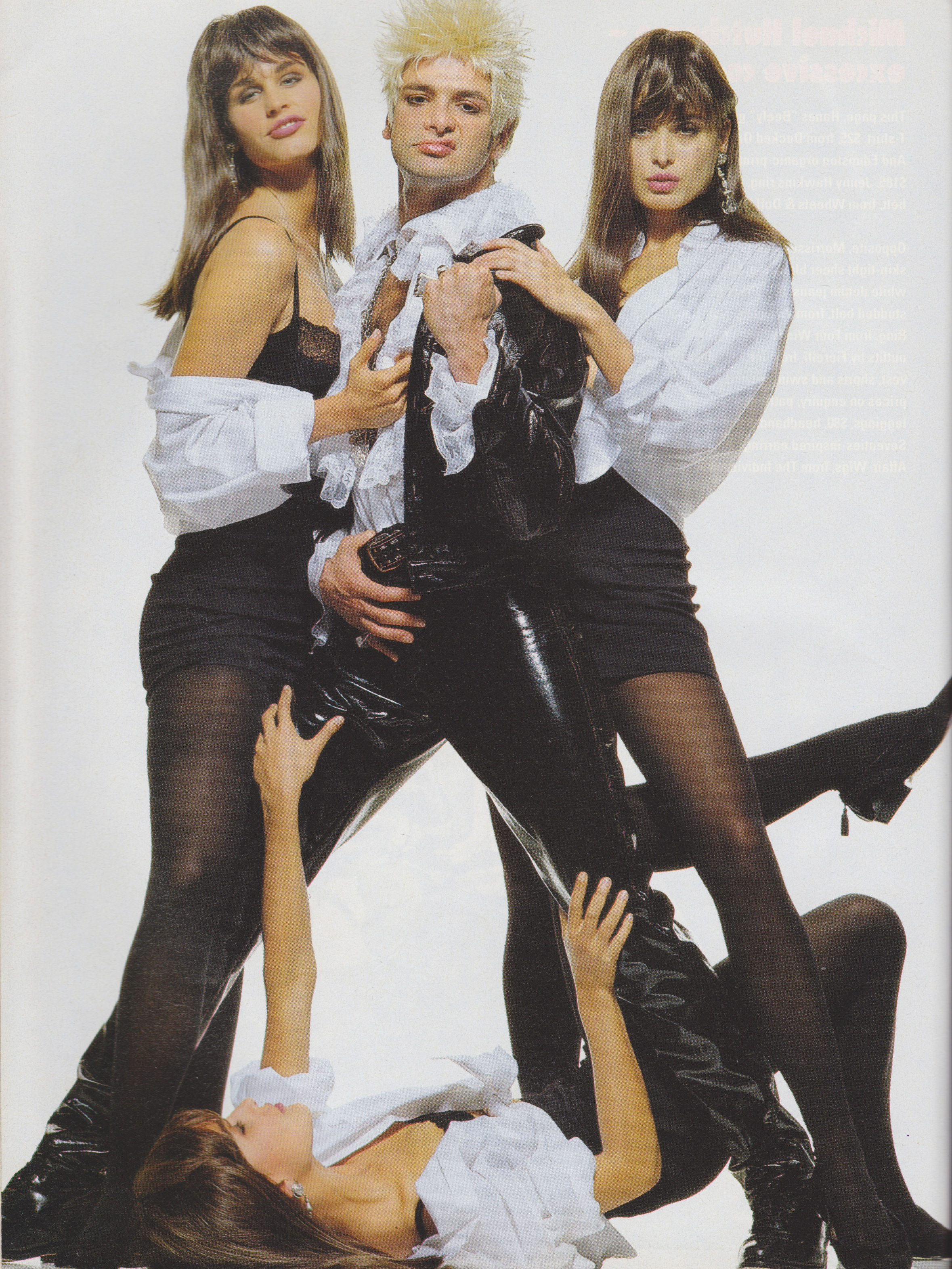 Cosmopolitan September 1991 | Rock n Role Models (Toneya Bird, Francoise Skeates & 2 Unknowns) 07.jpeg