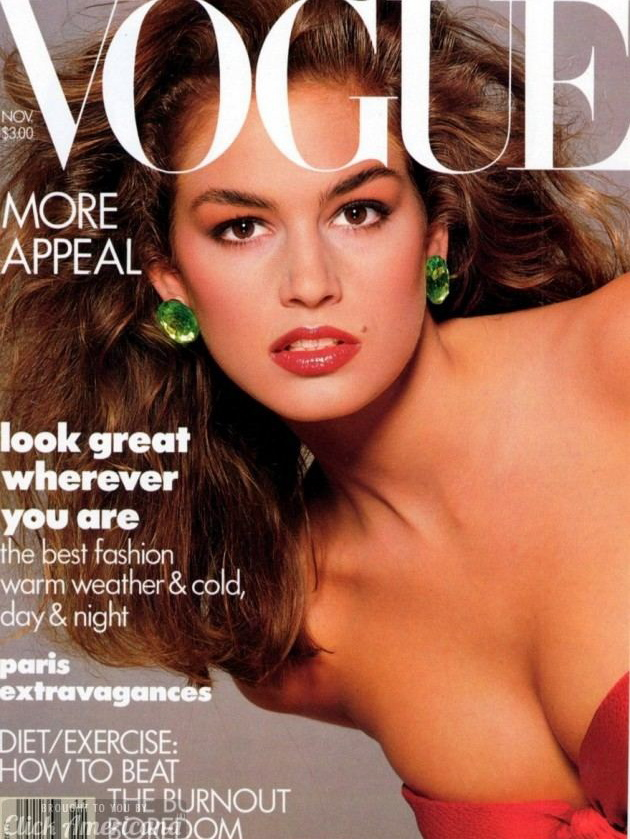 Vogue (US) November 1987 | Cindy Crawford