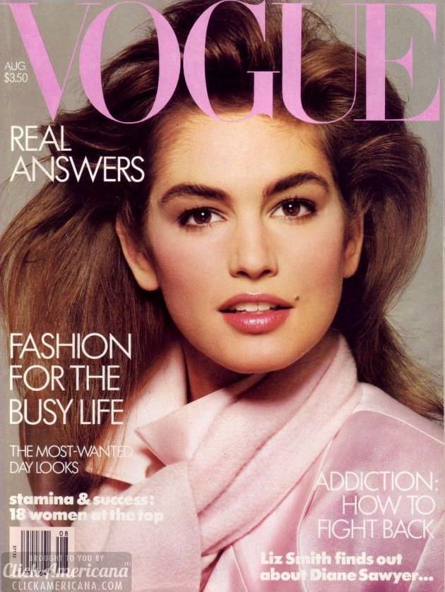 Vogue (US) August 1986 | Cindy Crawford