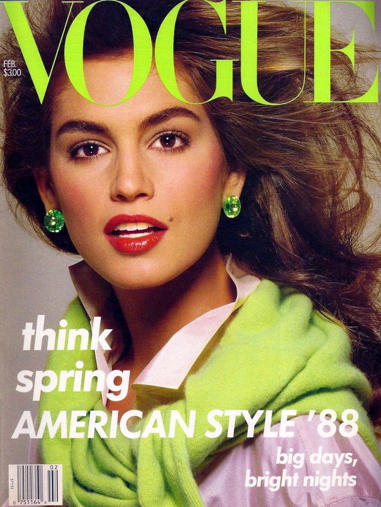 Vogue (US) February 1988 | Cindy Crawford