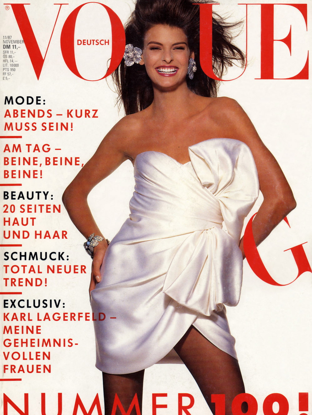 Vogue (Germany) November 1987 | Linda Evangelista