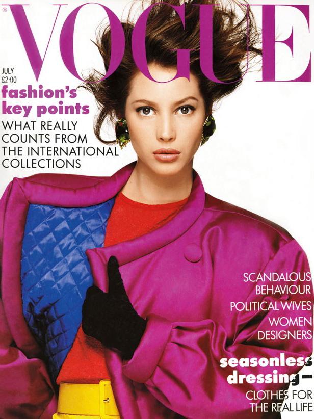 Vogue (UK) July 1987 | Christy Turlington