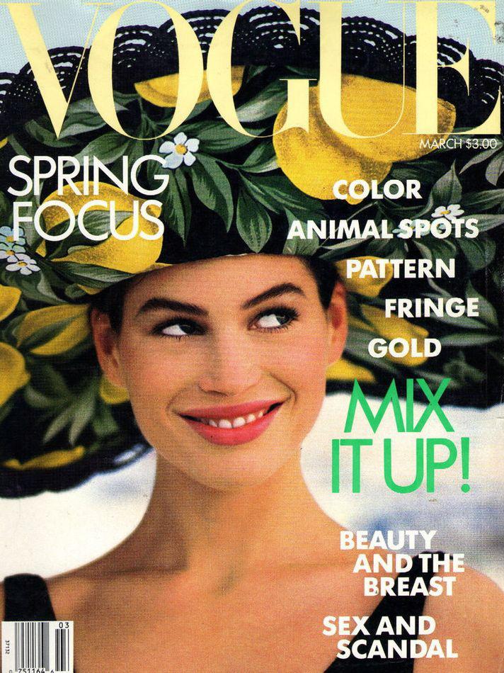 Vogue (US) March 1989 | Carre Otis