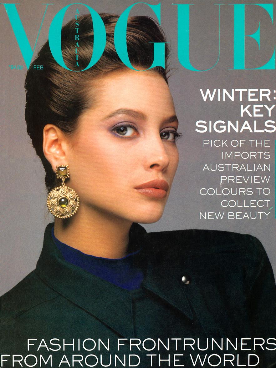 Vogue (Australia) February 1986 | Christy Turlington