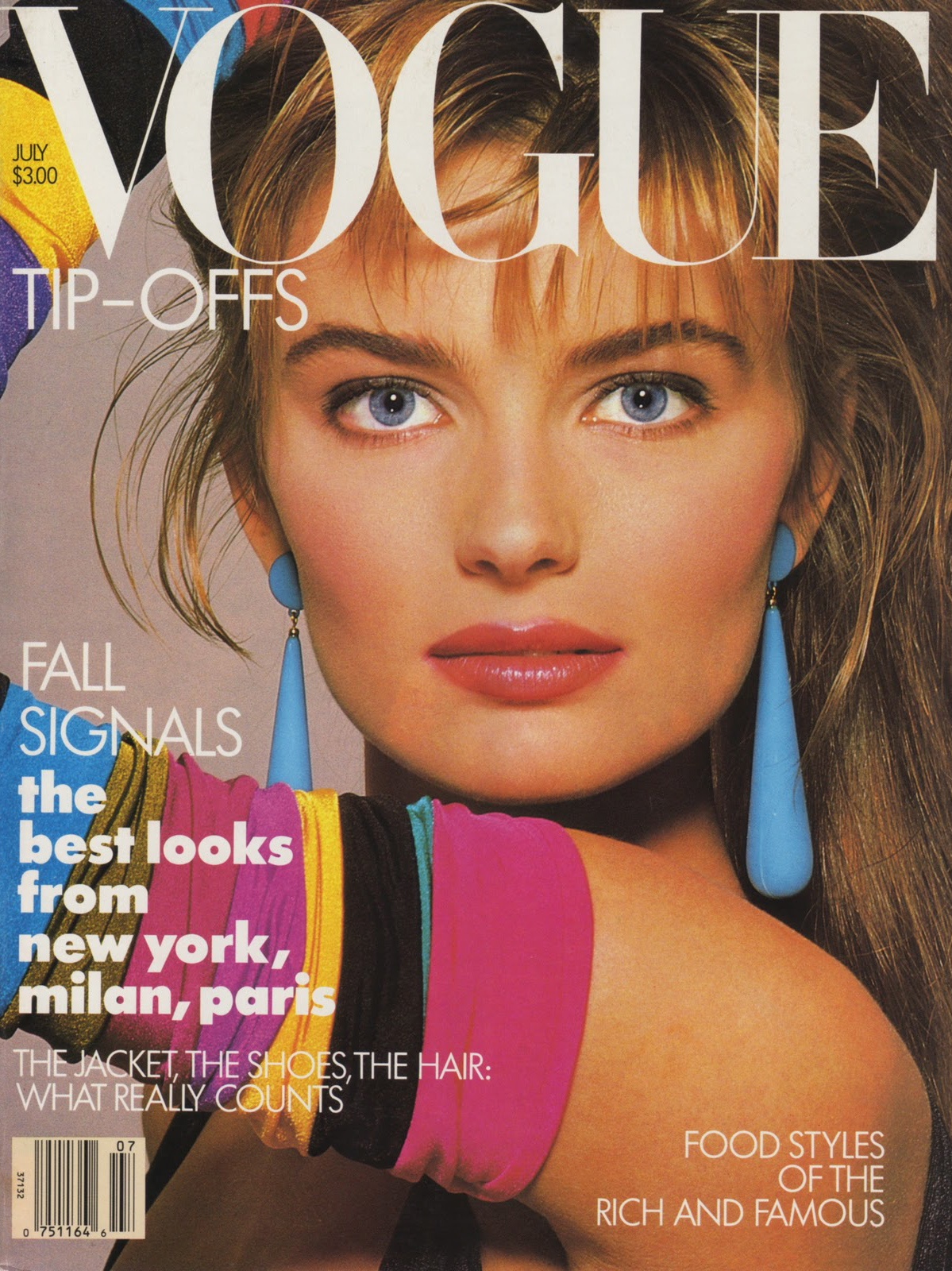 Vogue (US) July 1987 | Paulina Porizkova