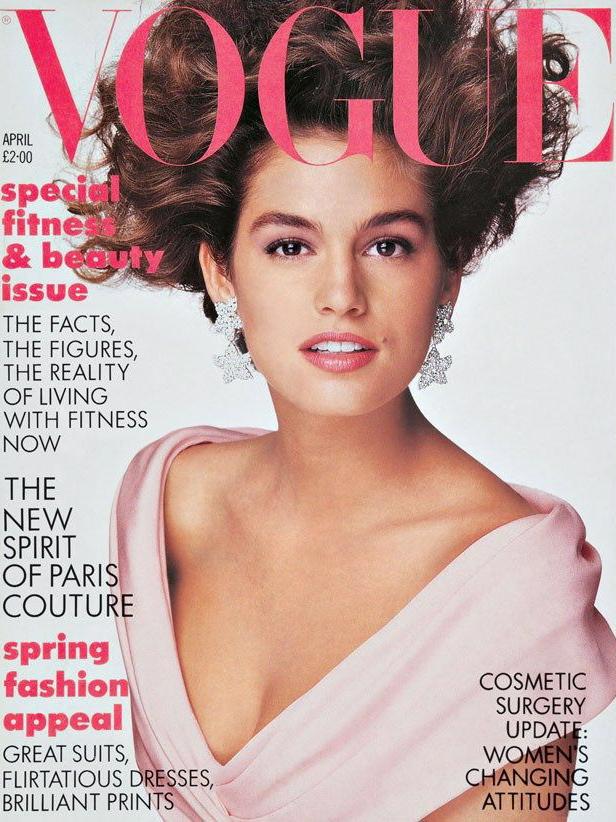 Vogue (UK) April 1987 | Cindy Crawford