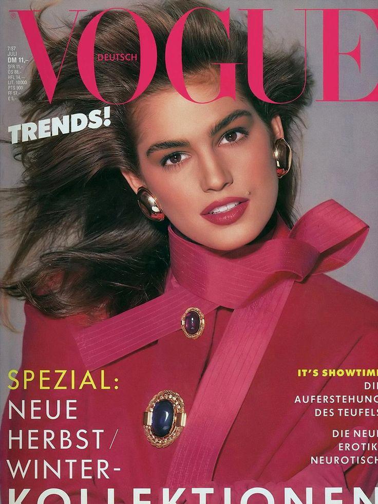 Vogue (Germany) July 1987 | Cindy Crawford
