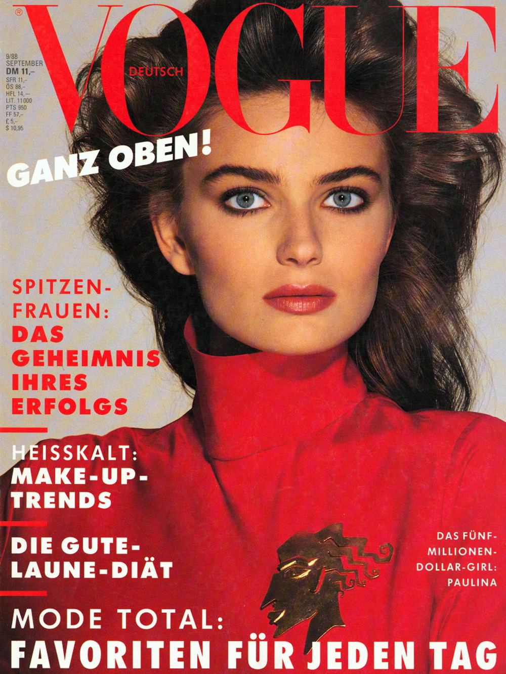 Vogue (Germany) September 1988 | Paulina Porizkova