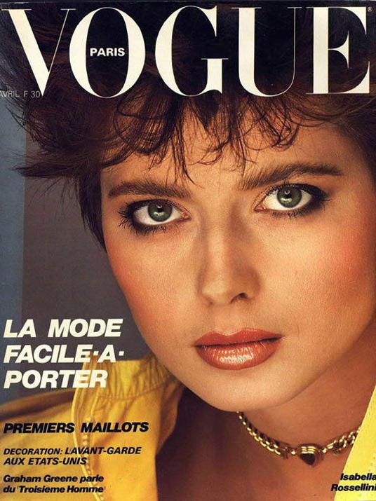 Vogue (Paris) April 1982 | Isabella Rossellini