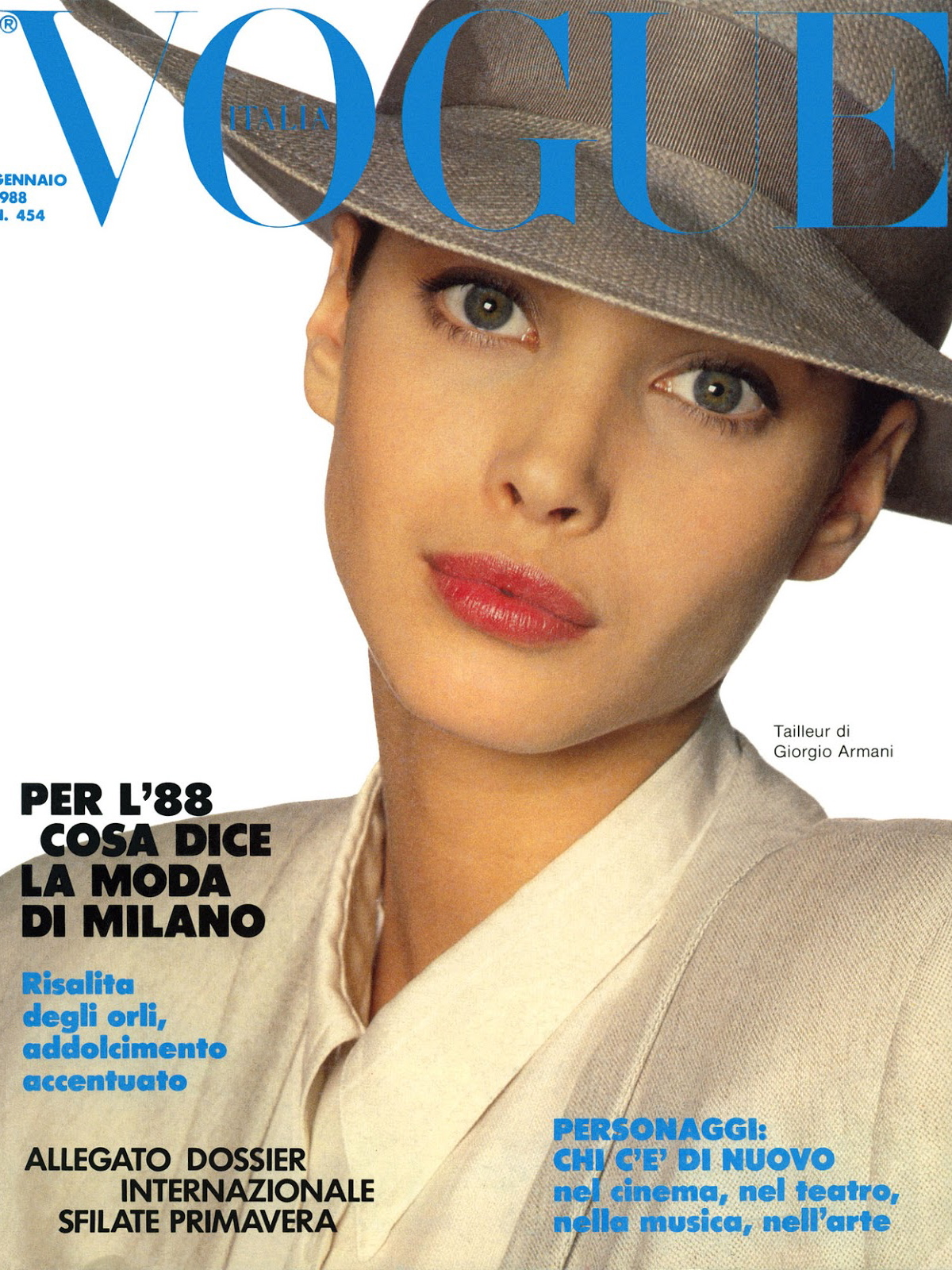 Vogue (Italia) January 1988 | Christy Turlington