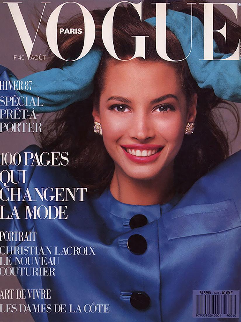 Vogue (Paris) August 1987 | Christy Turlington
