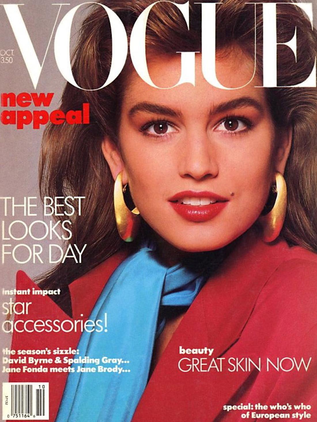 Vogue (US) October 1986 | Cindy Crawford