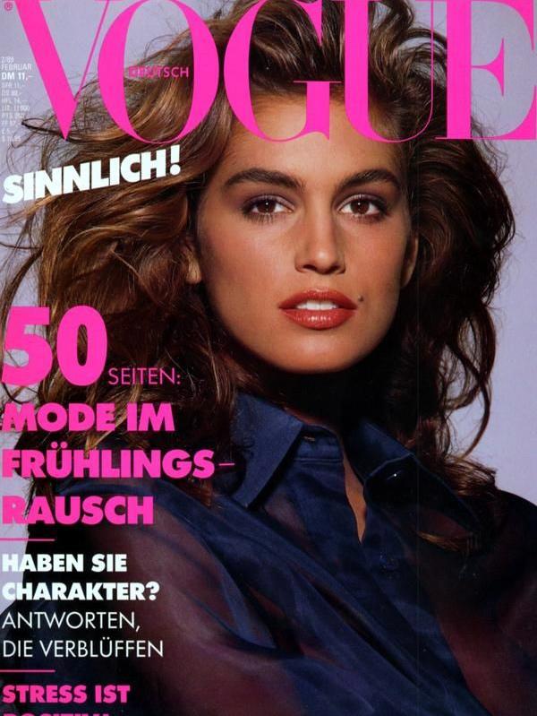 Vogue (Germany) February 1988 | Cindy Crawford