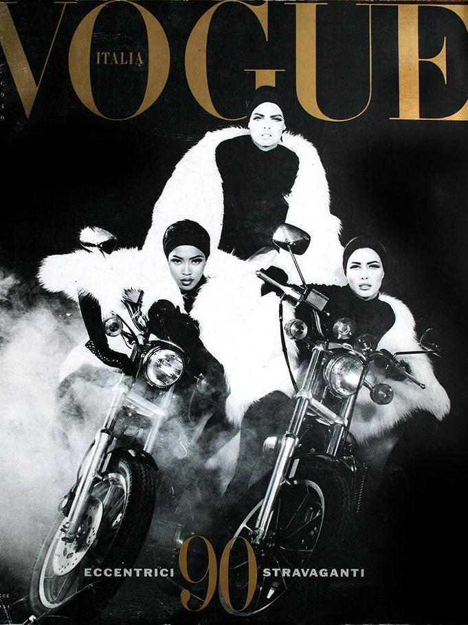 Vogue (Italia) December 1989 | Naomi Campbell, Linda Evangelista & Christy Turlington