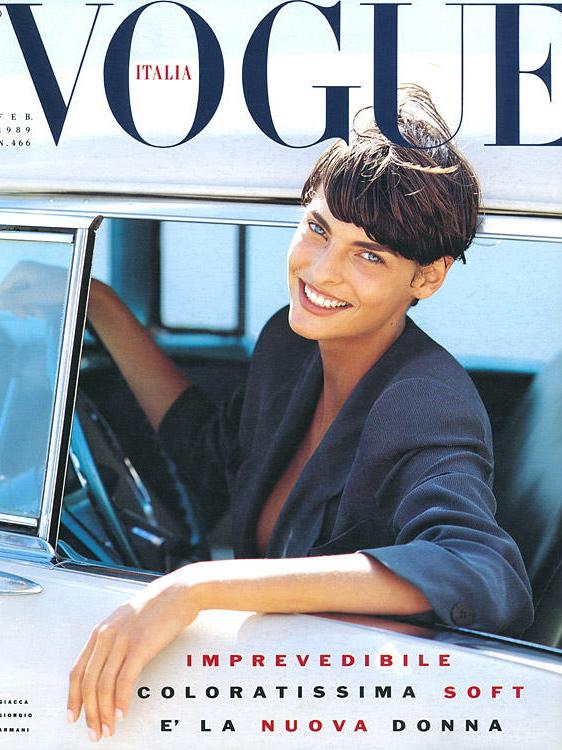 Vogue (Italia) February 1989 | Linda Evangelista