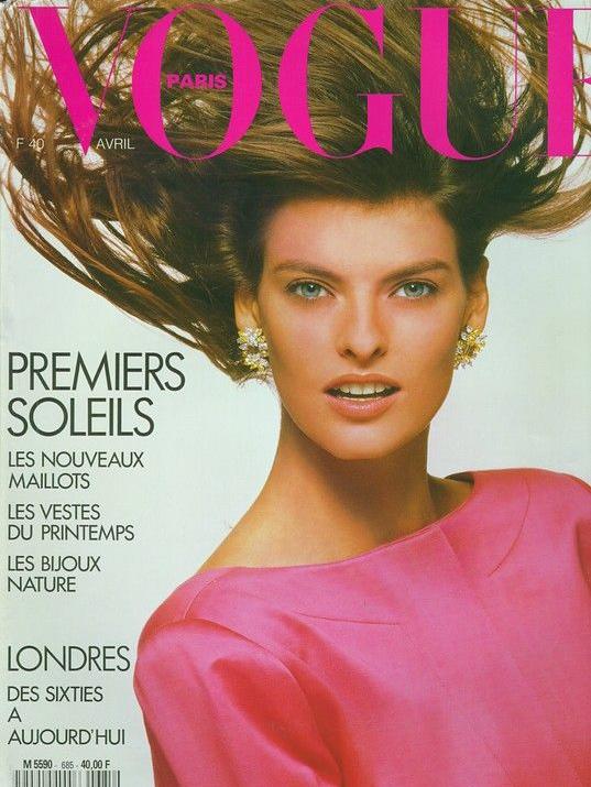 Vogue (Paris) April 1988 | Linda Evangelista