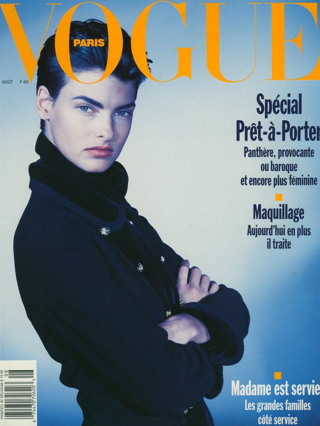 Vogue (Paris) August 1989 | Linda Evangelista