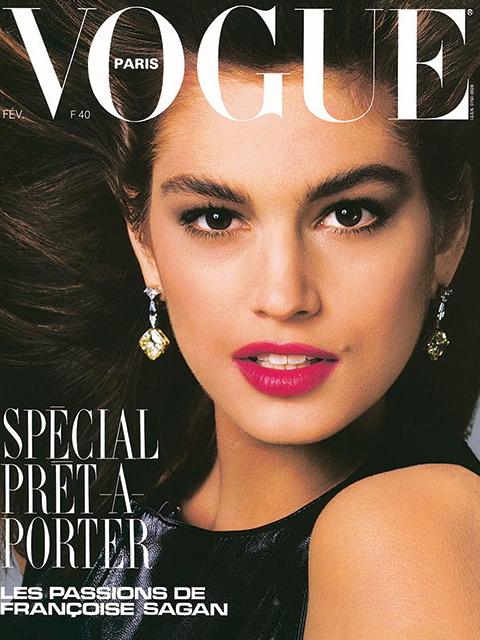 Vogue (Paris) February 1987 | Cindy Crawford