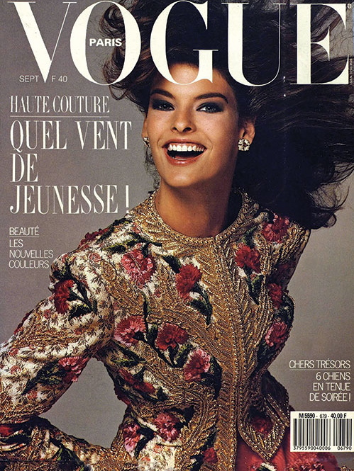 Vogue (Paris) September 1987 | Linda Evangelista