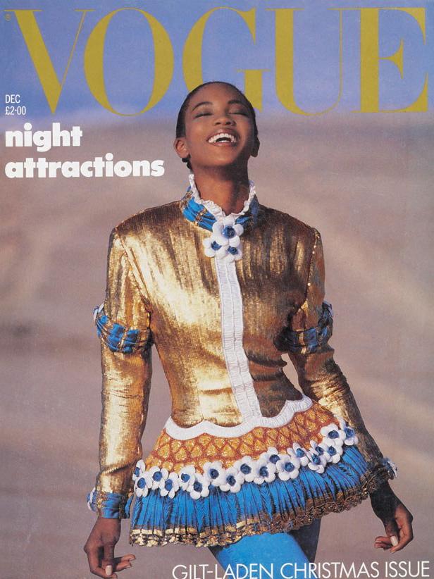 Vogue (UK) December 1987 | Naomi Campbell