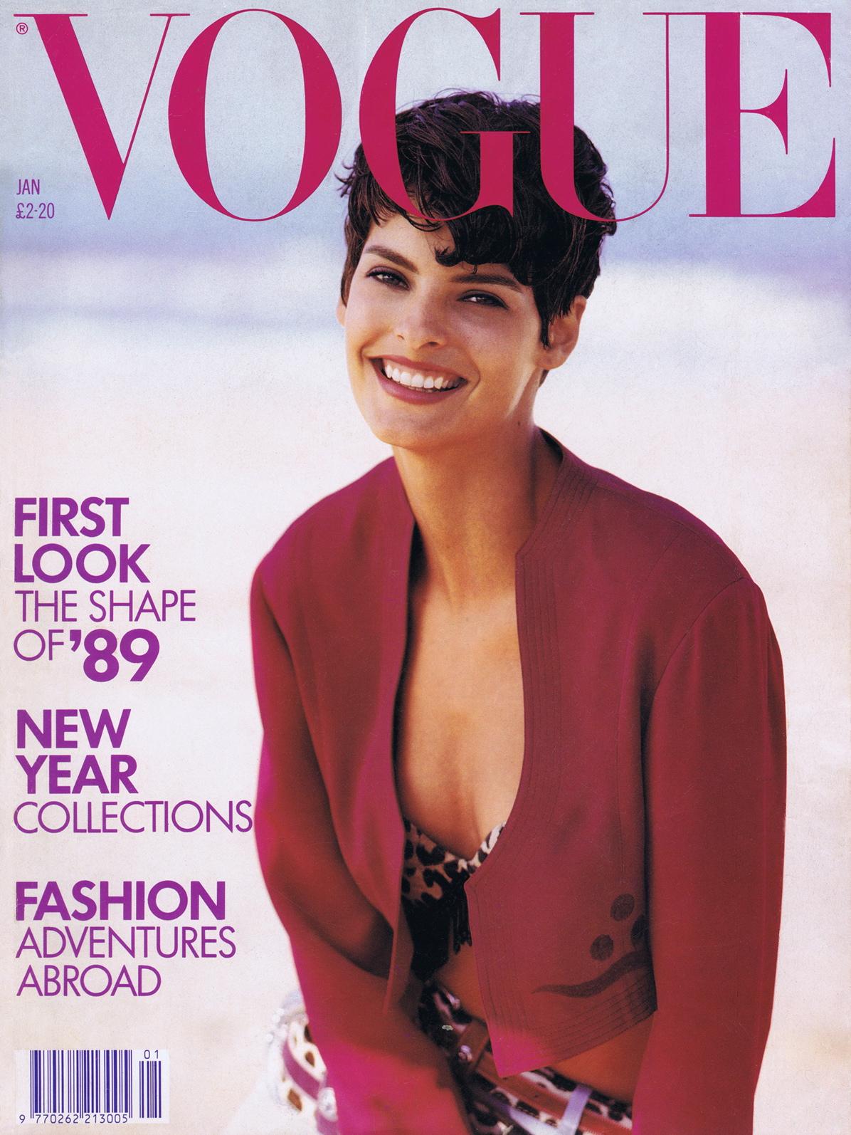 Vogue (UK) January 1989 | Linda Evangelista