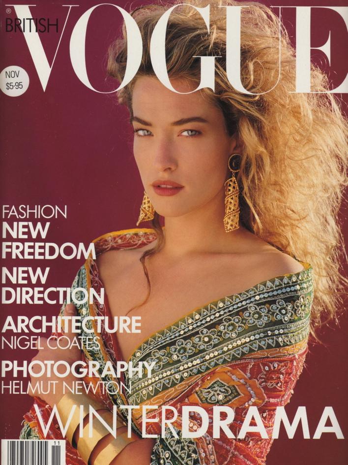Vogue (UK) November 1989 | Tatjana Patitz