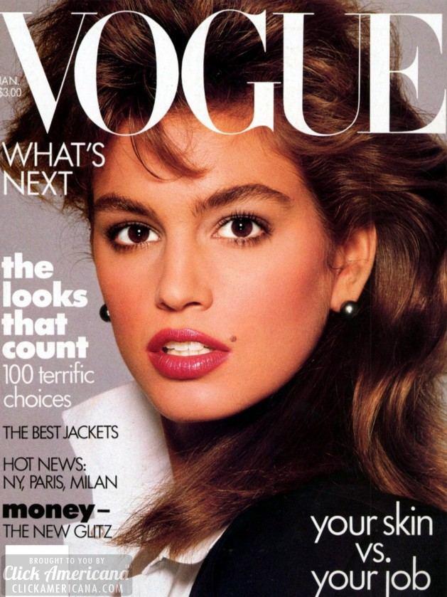 Vogue (UK) July 1988 | Cindy Crawford