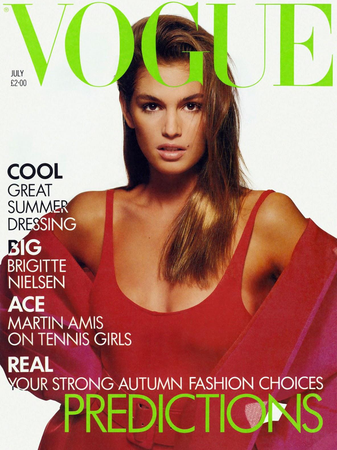 Vogue (US) January 1987 | Cindy Crawford