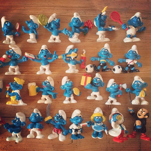 BP Smurf Figurines #80s #smurfs #childhood #memories #childhoodmemories #toys #80stoys #collectibles #doubledenimdays