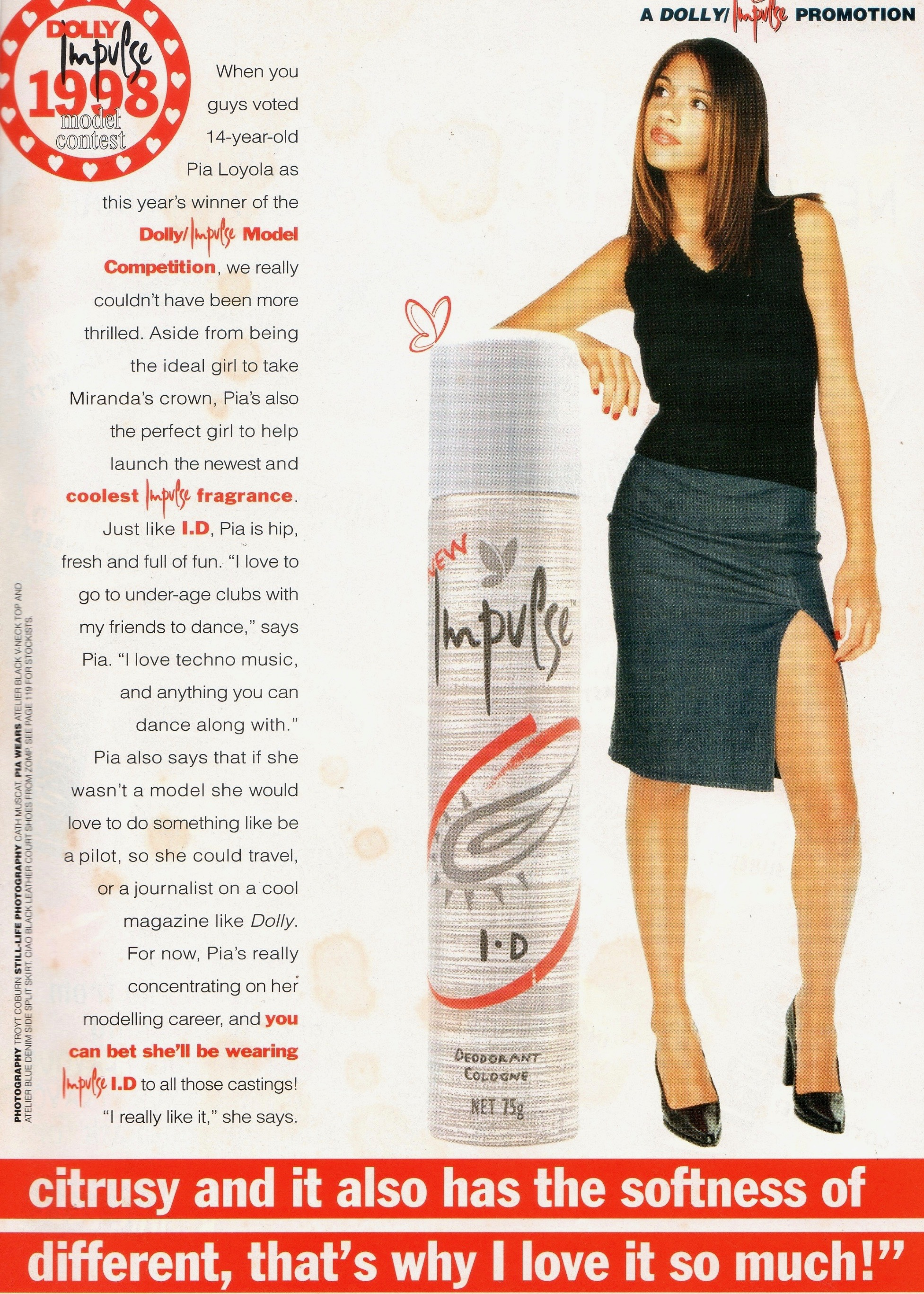 Dolly Covergirl Competition | 1998 Extras Pia Loyola 02.jpg