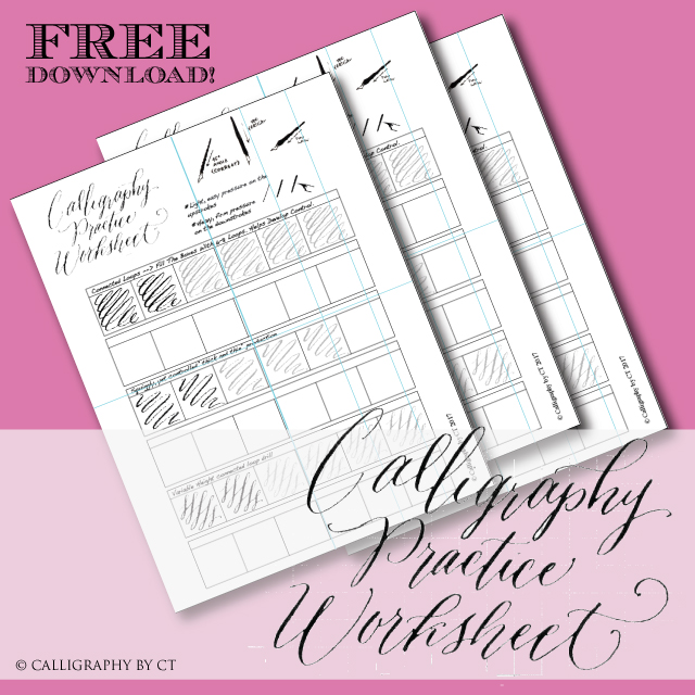 photo relating to Printable Calligraphy Practice identify Free of charge Printable Calligraphy Teach Worksheet