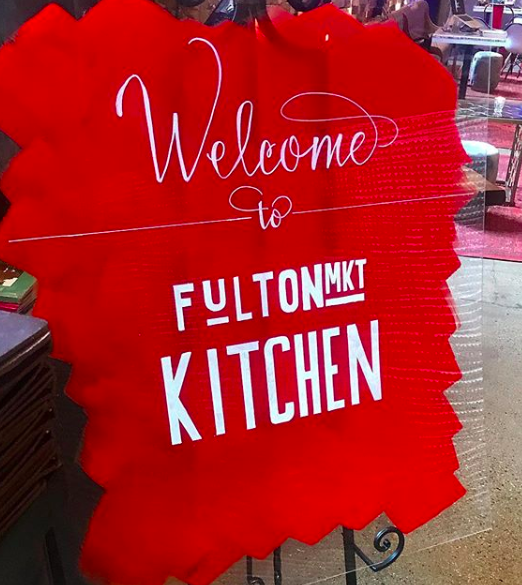 """Frameless acrylic WELCOME sign w/custom color painted on backside - Dimensions: 30"""" x 36"""" inches 