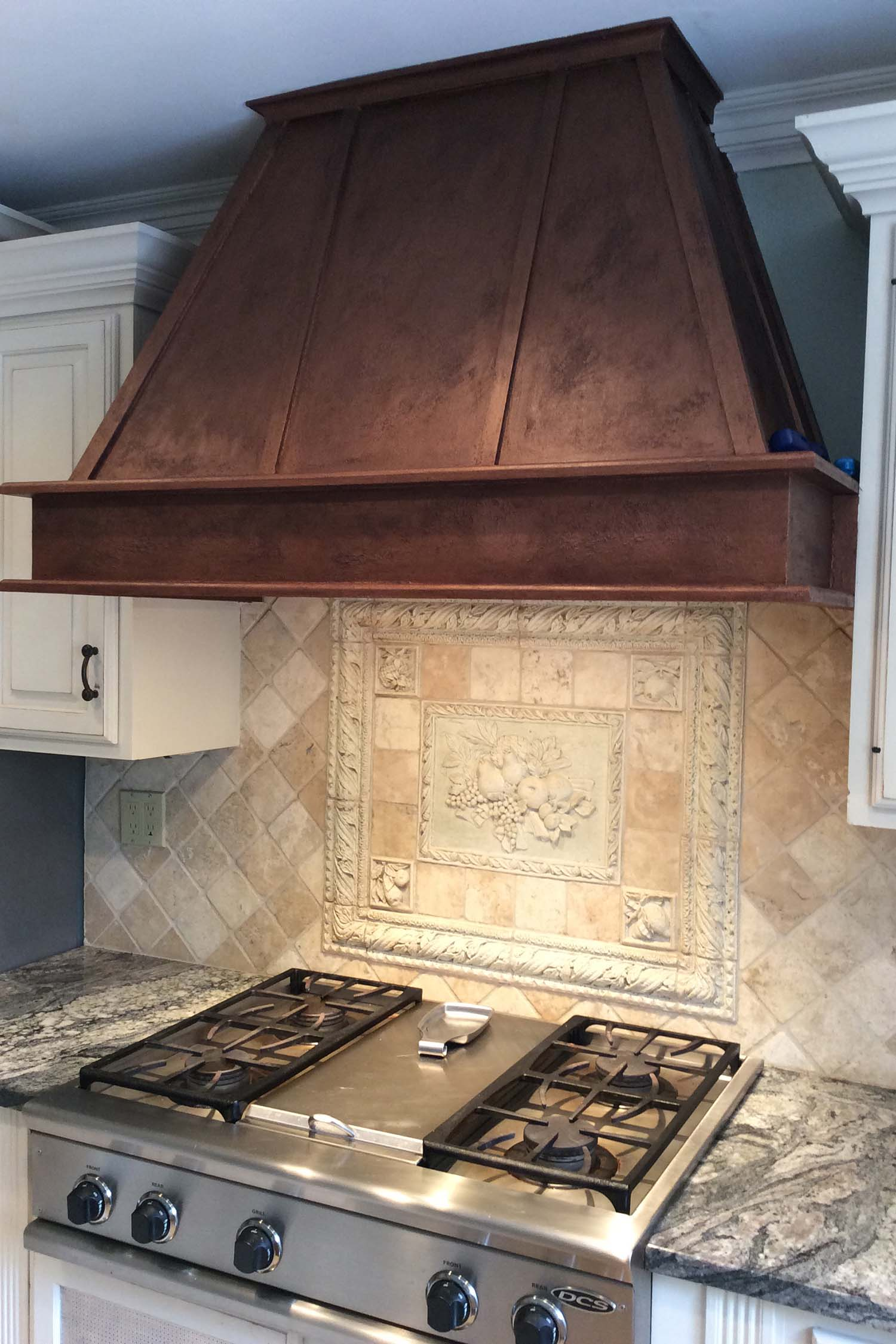 Painted Copper Range Hood / Residential