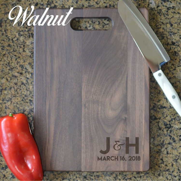Cutting boards available in Walnut and Maple.