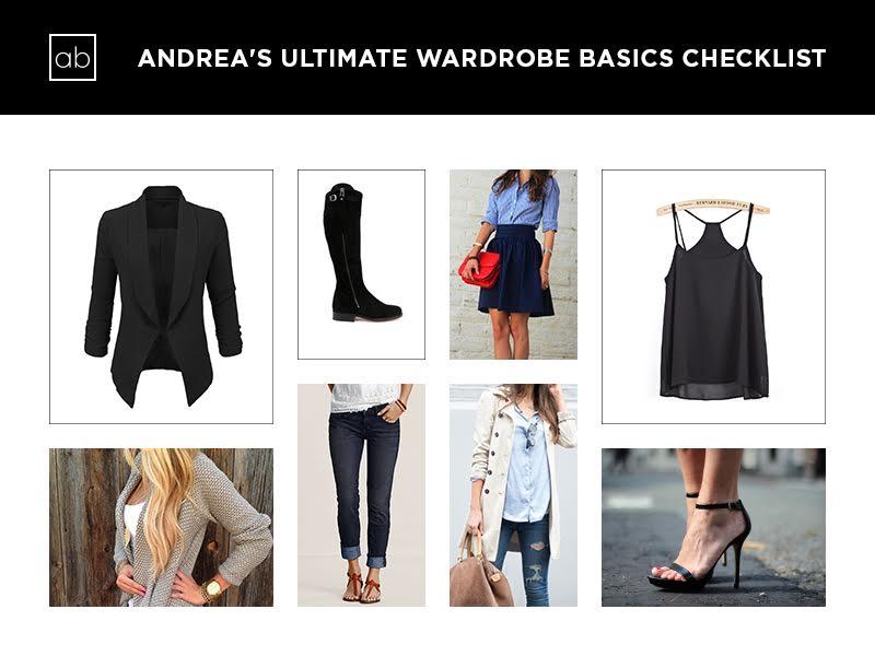 Andrea Bonawitz Image Consultant Rochester, NY Ultimate Wardrobe Basics Checklist