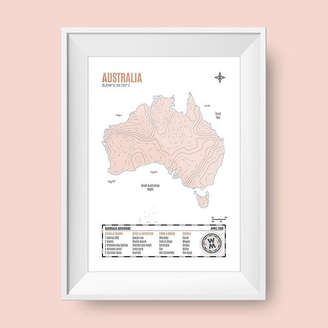 NEW! Digital maps now available! Pastel colours + beautiful paper! #personalised #travel #map #pastel #colour #gift