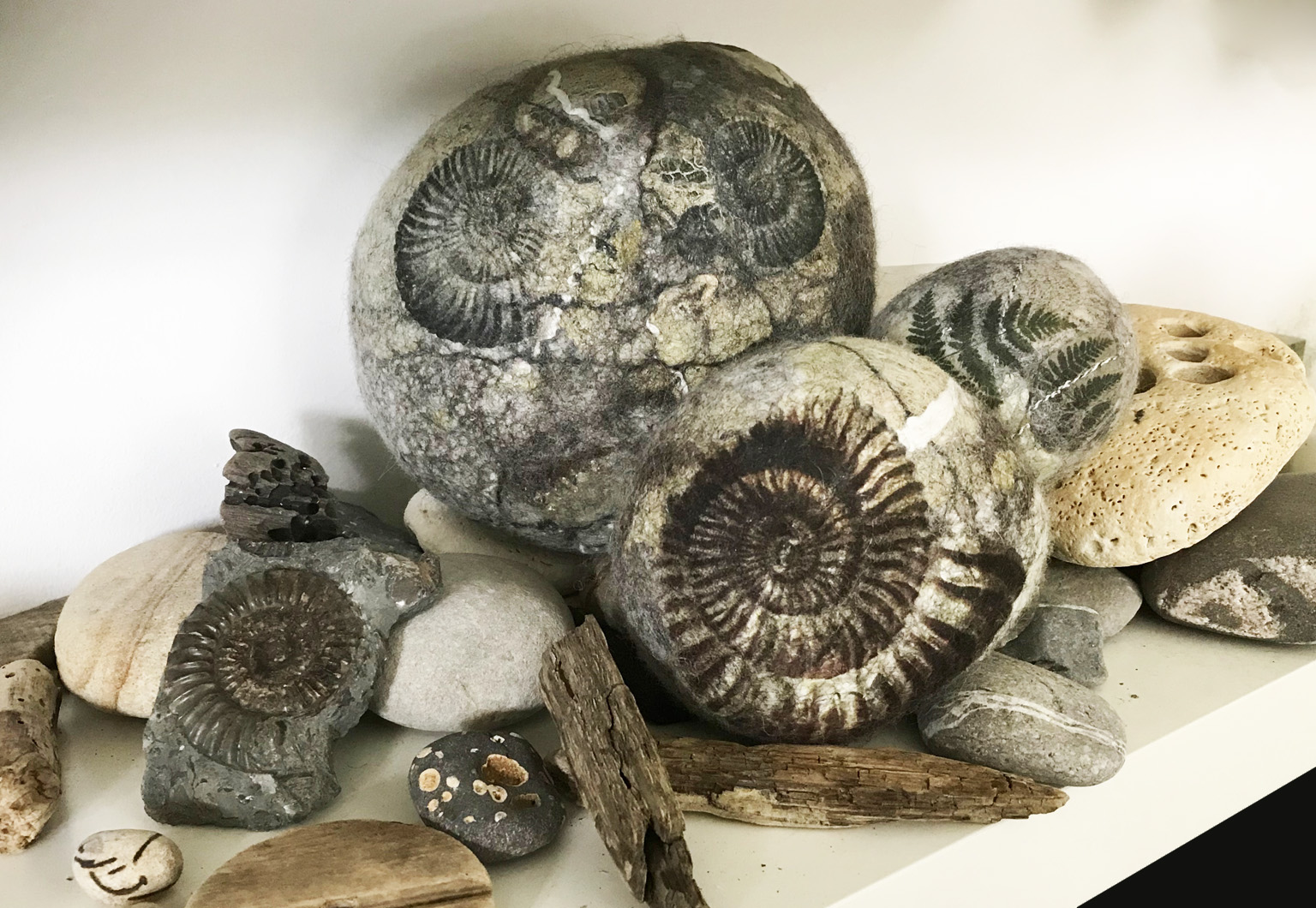 fossils and real pebbles smaller.jpg