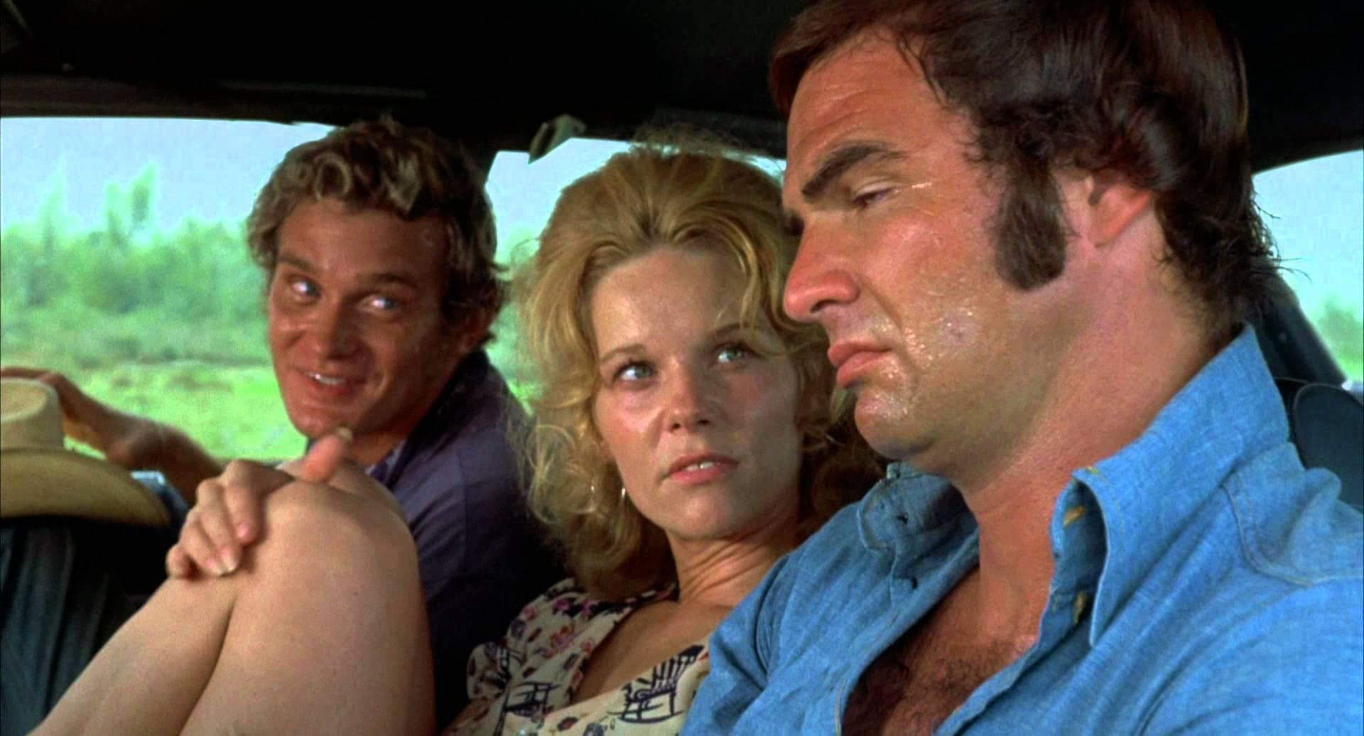 Bo Hopkins, Jennifer Billingsley, and our man Burt. They work! They carpool! They sweat!