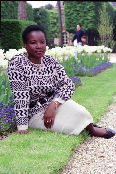 Malian woman in garden