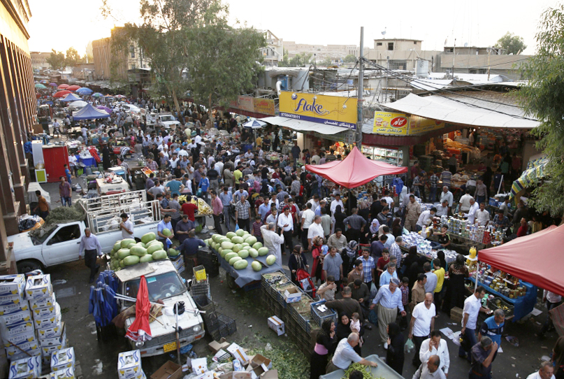 A market in Erbil. Photo courtesy of Dilshad Qadir.