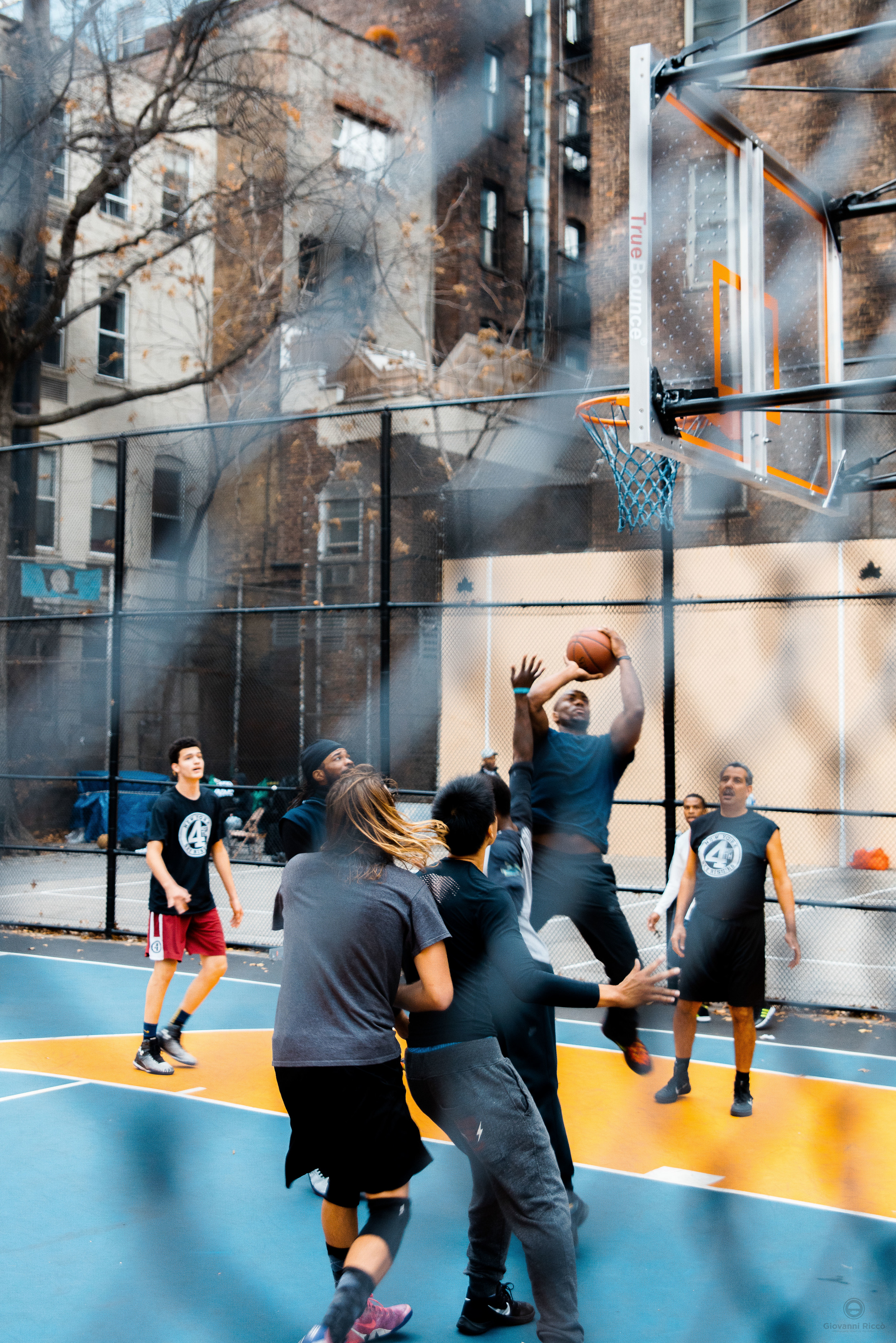 Basketball players in NYC