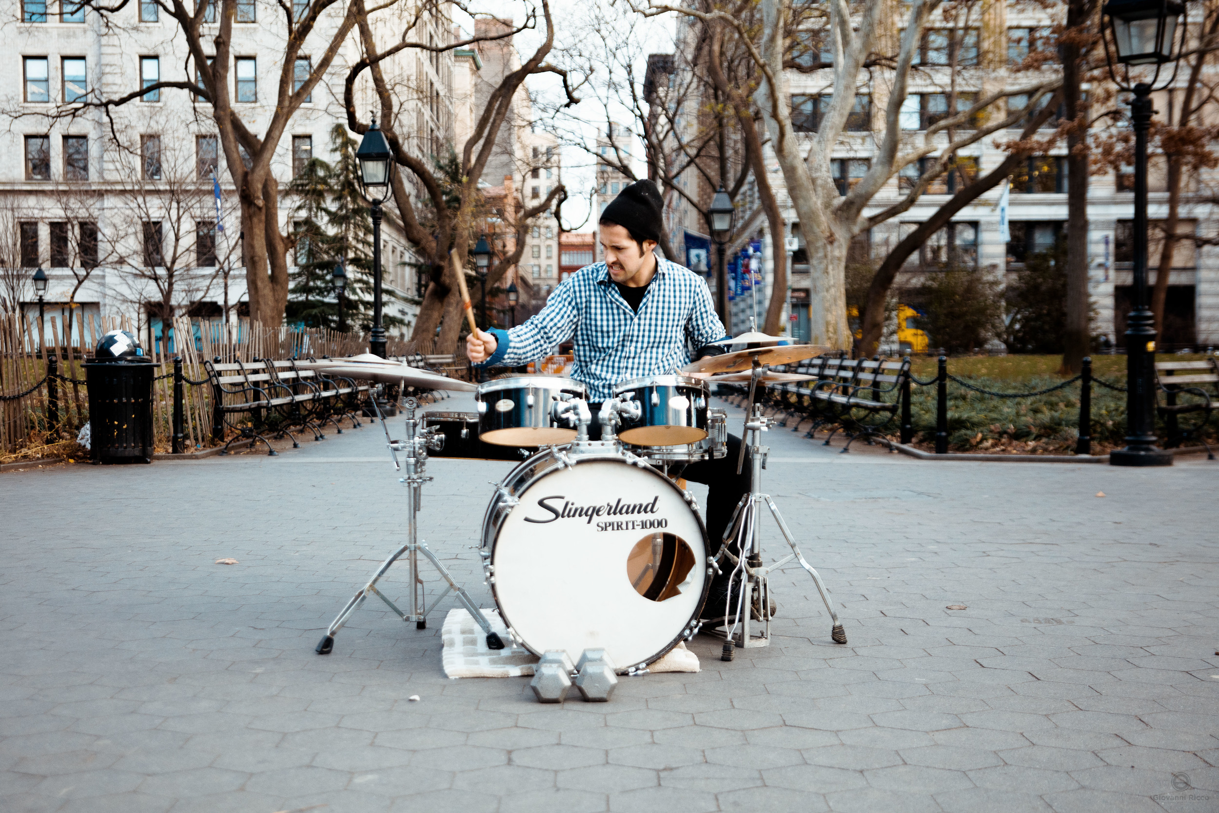 Street performer in NYC